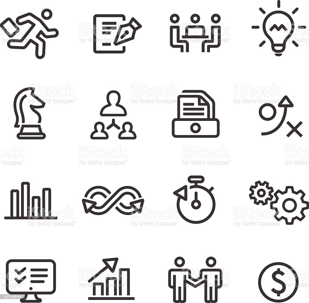 Business Workflow Icons - Line Series vector art illustration