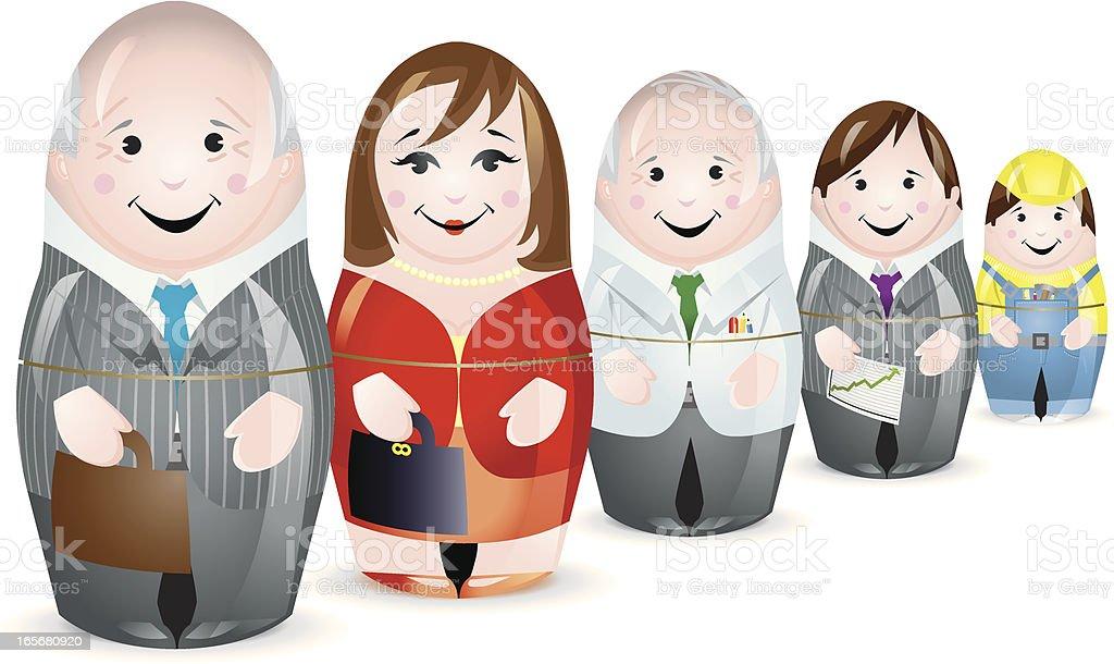 Business workforce Team vector art illustration