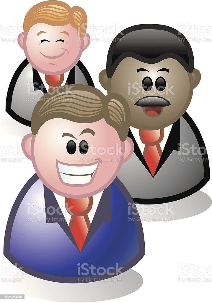 Grupo de negocios - ilustración de arte vectorial
