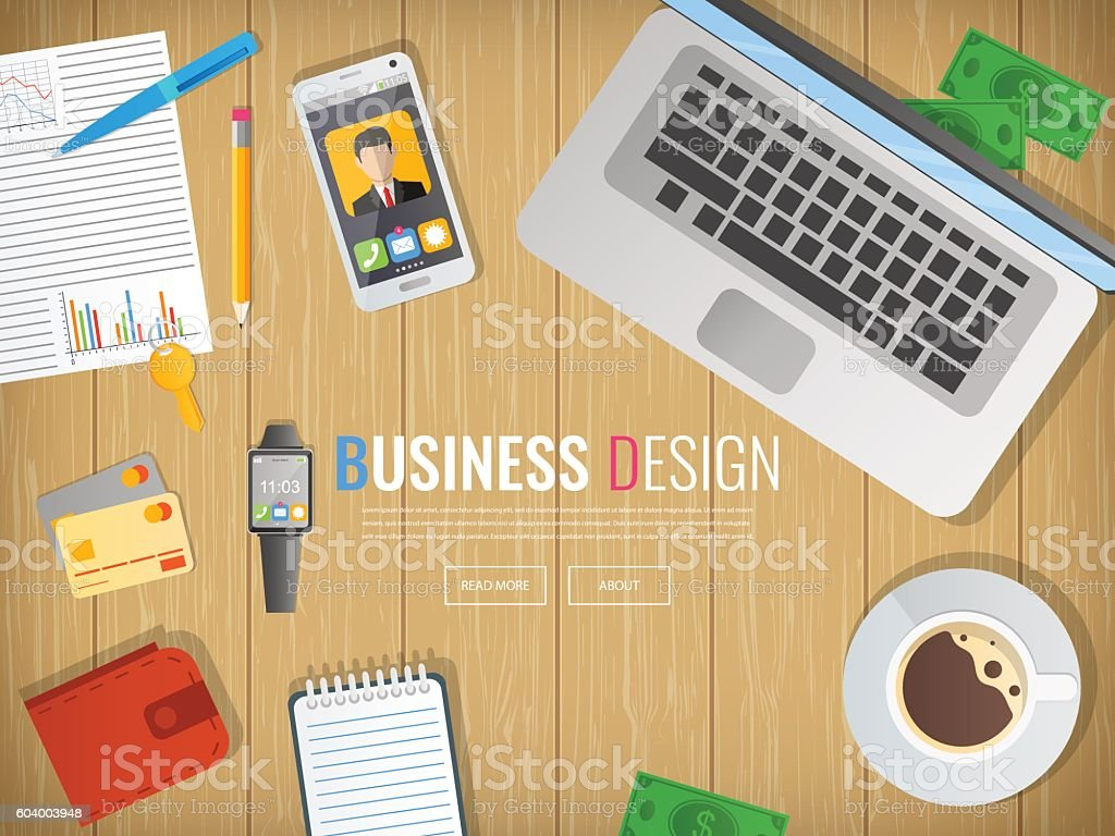 Business workplace. Office. Work in a team. Business design. royalty-free stock vector art