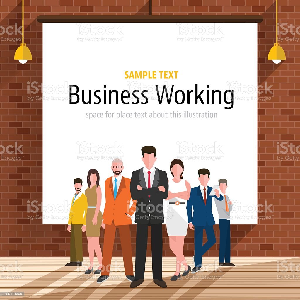 Business workplace vector art illustration