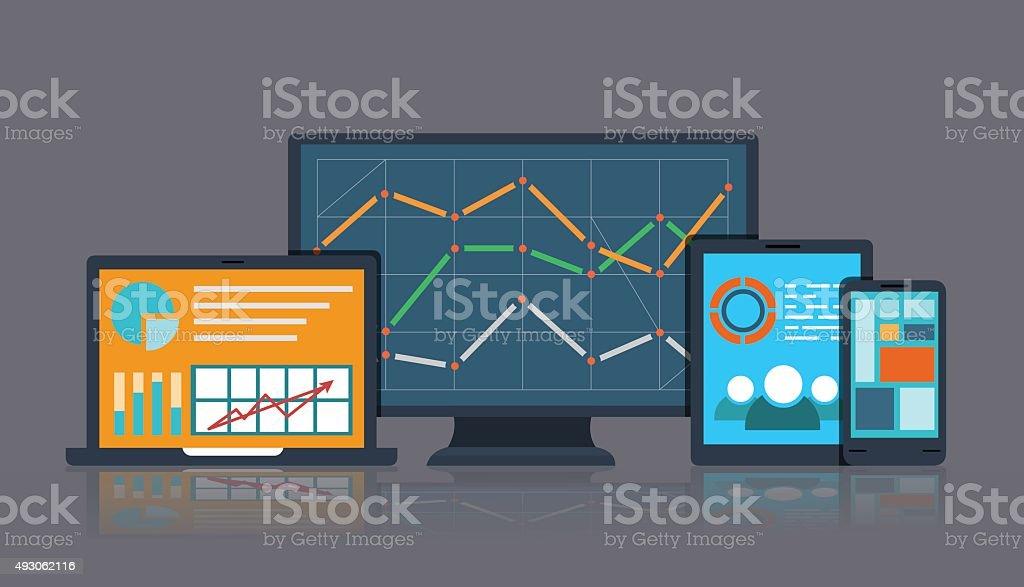 Business_Info vector art illustration