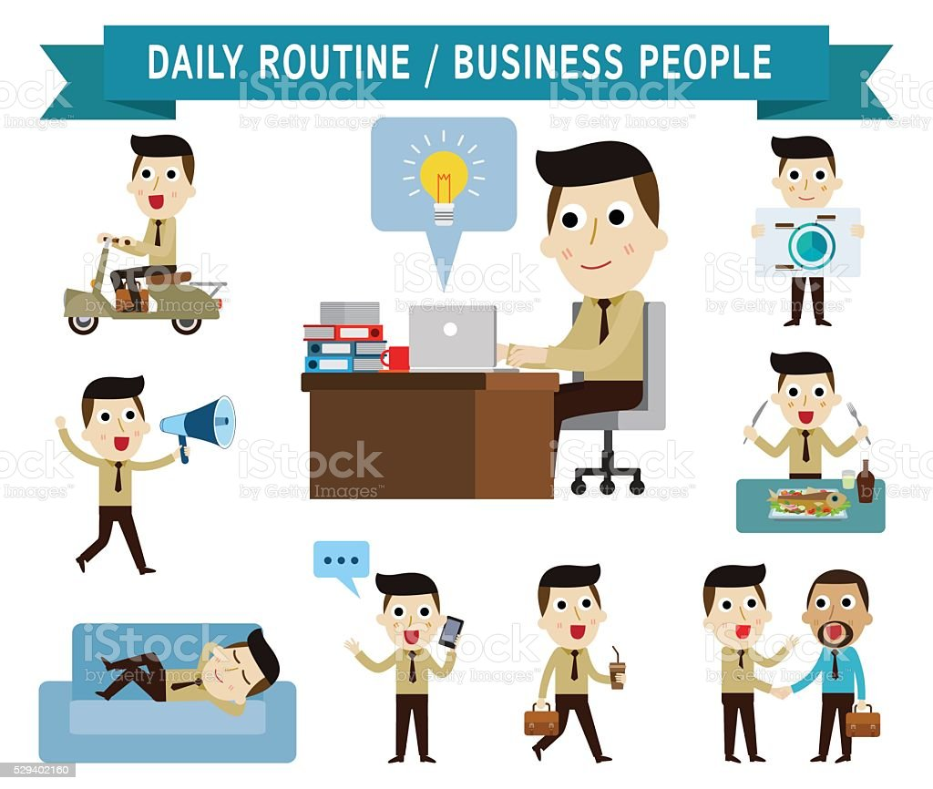 business,falt,icons,people vector art illustration