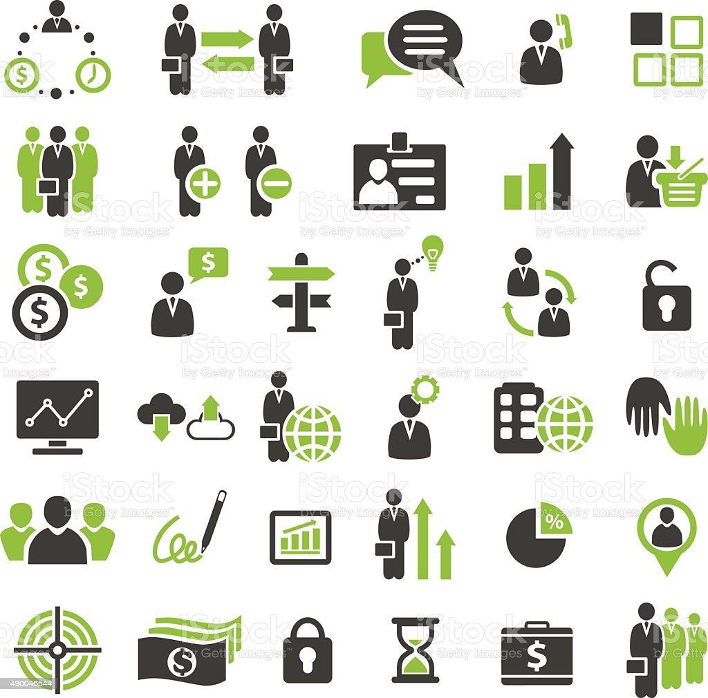 BusinessIcons vector art illustration