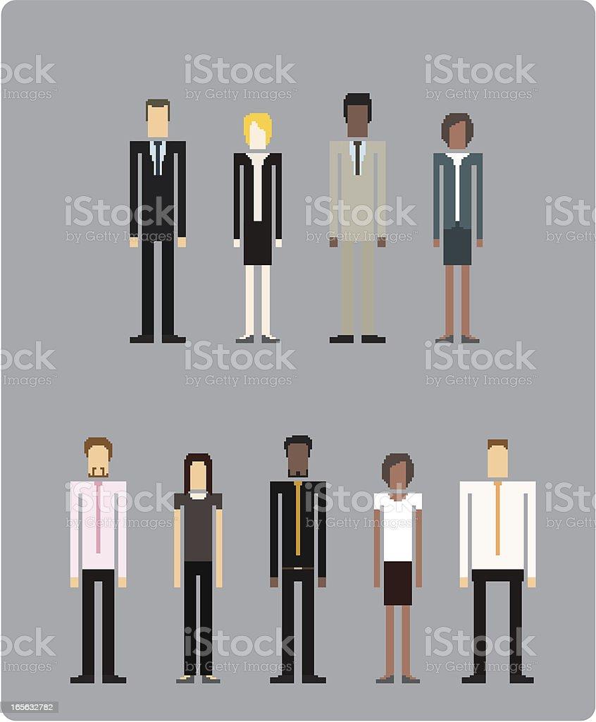 Businessman and Business women (vector) vector art illustration