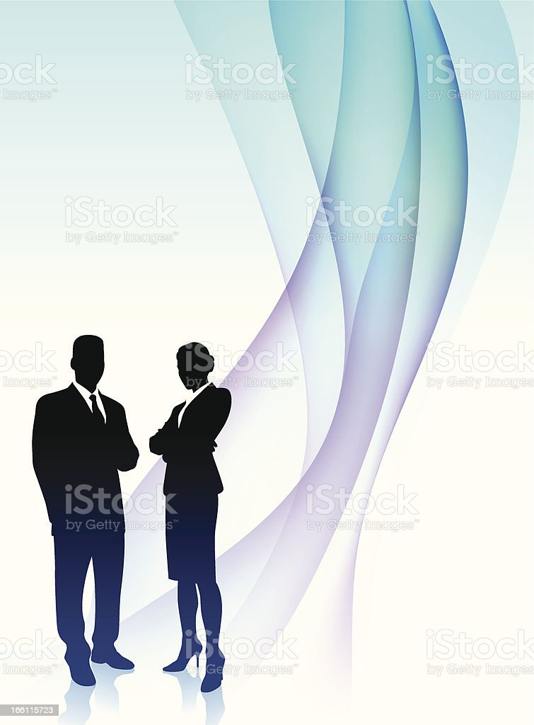 businessman and businesswoman Abstract Background vector art illustration