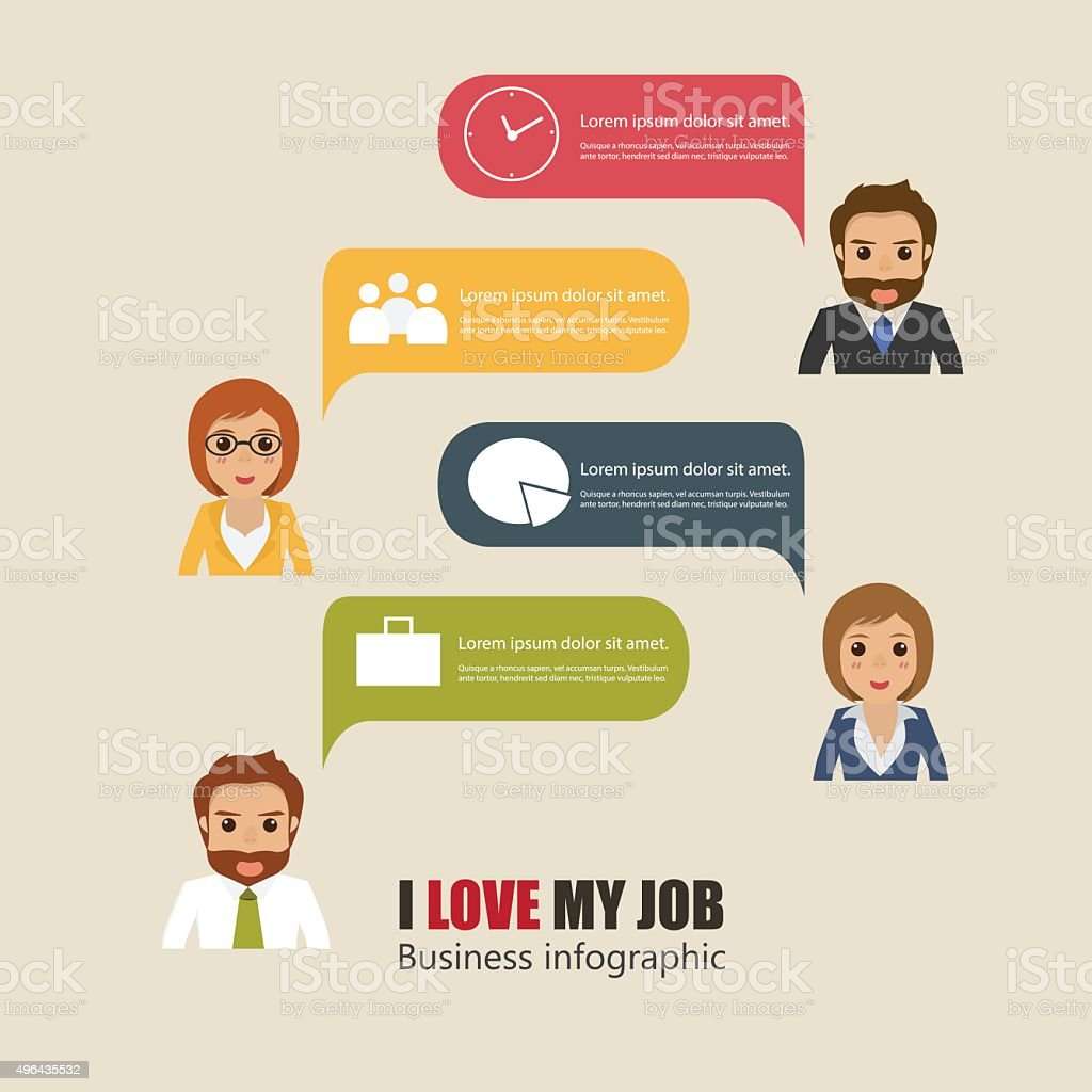 businessman and businesswoman talking with bubble speech charact vector art illustration