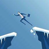 Businessman and gap
