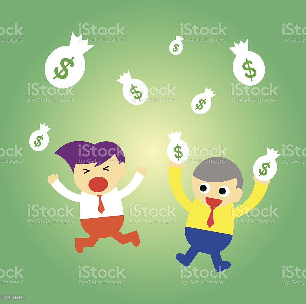 businessman and money royalty-free stock vector art