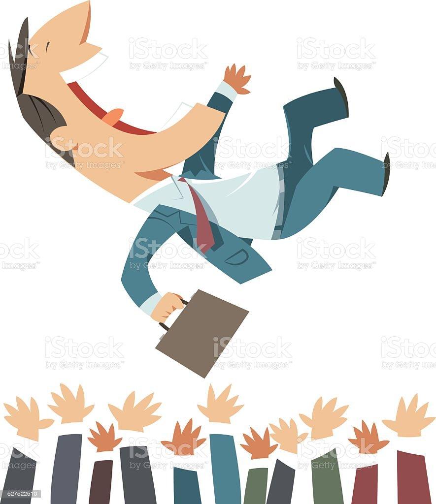 Businessman and success vector art illustration