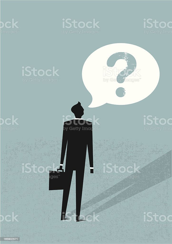 Businessman asking question royalty-free stock vector art