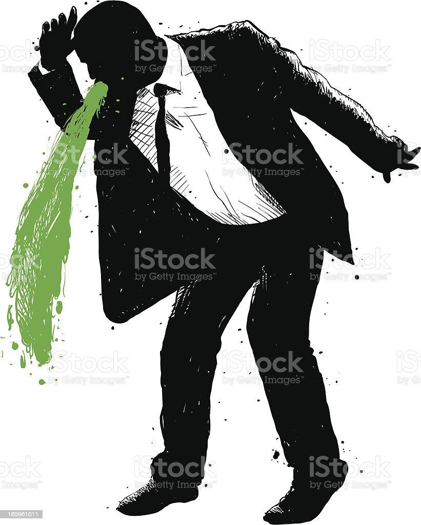 Businessman Barfing royalty-free stock vector art