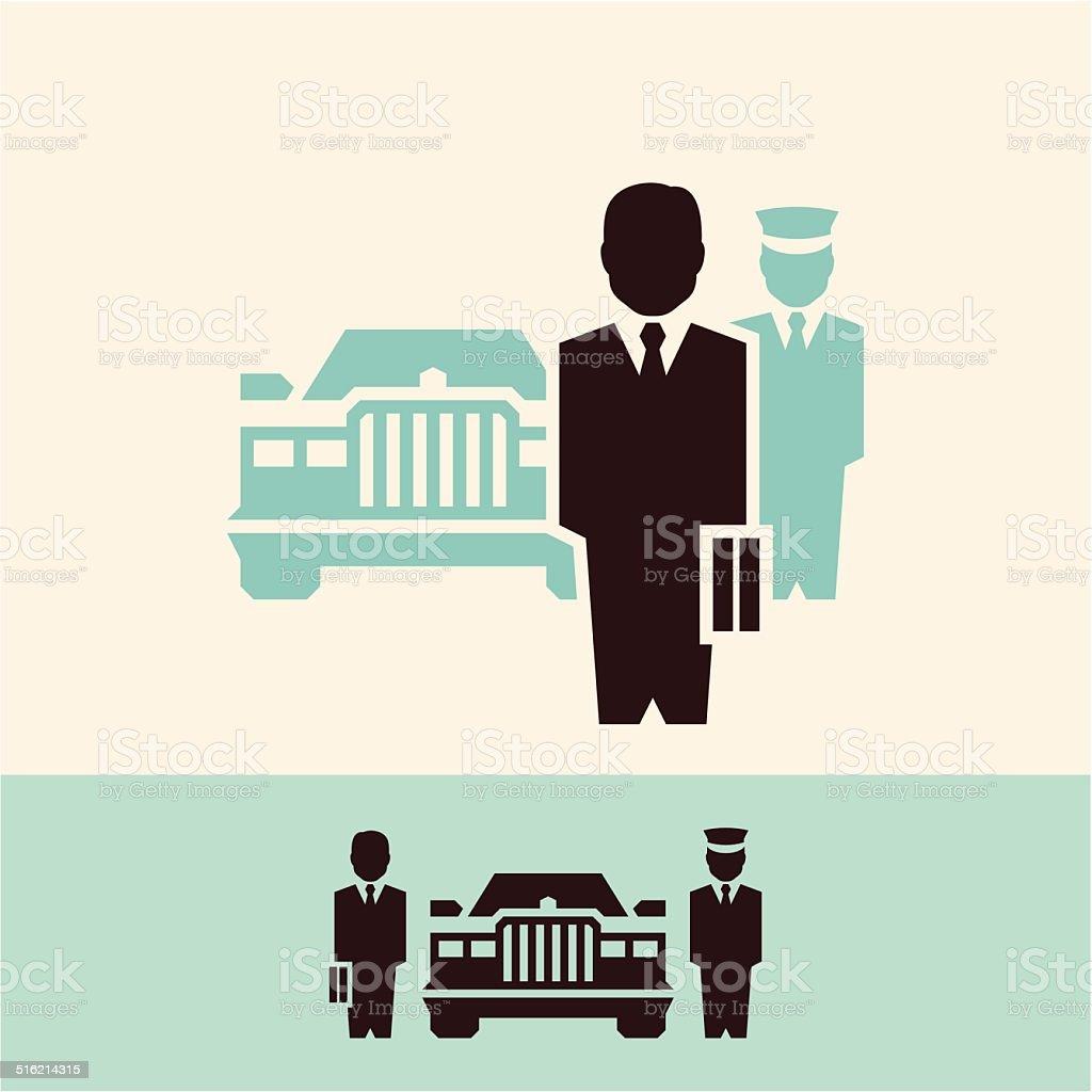 Businessman. BOSS. vector art illustration