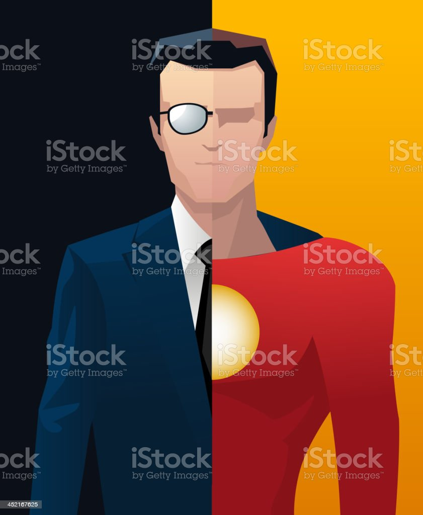 Businessman business superhero hero royalty-free stock vector art