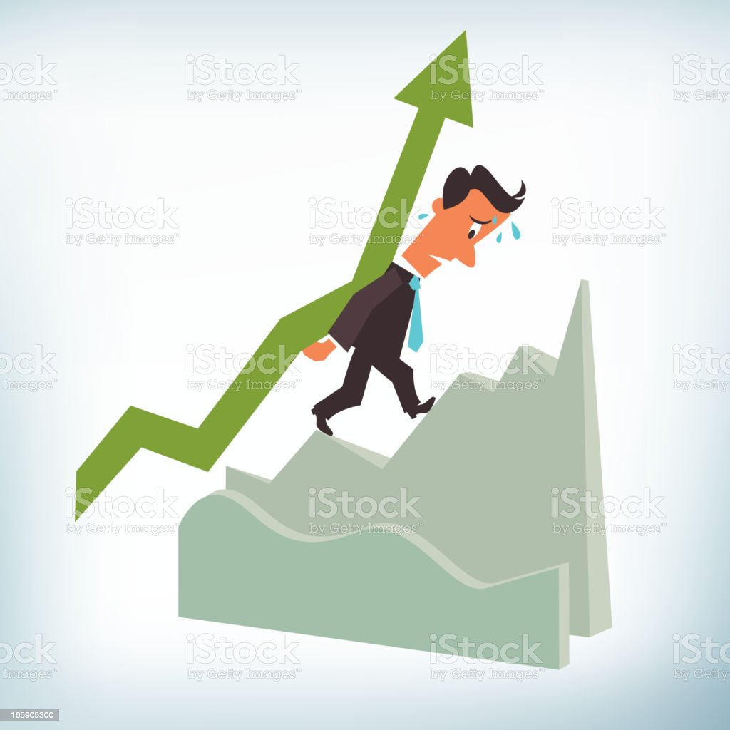 Businessman Carrying an Arrow royalty-free stock vector art