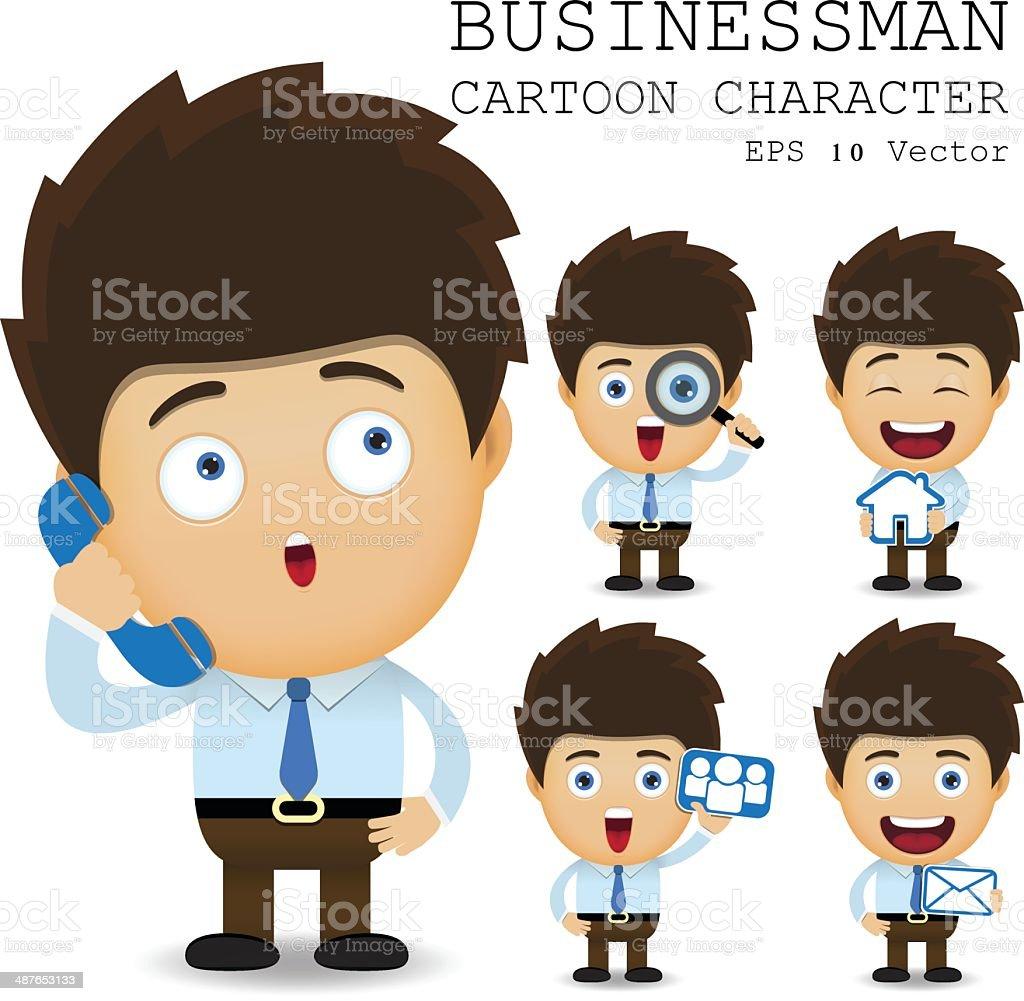 Businessman cartoon character EPS 10 vector royalty-free stock vector art