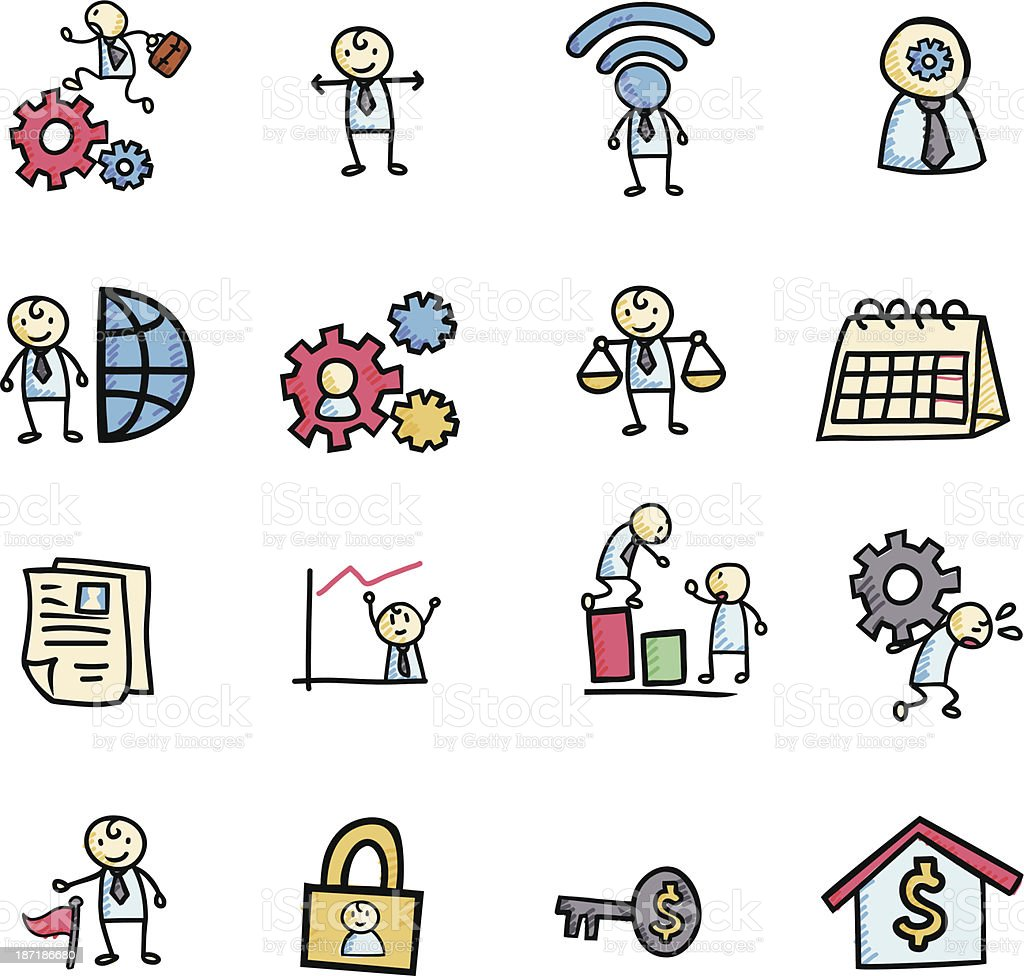 Businessman Concept Icon royalty-free stock vector art