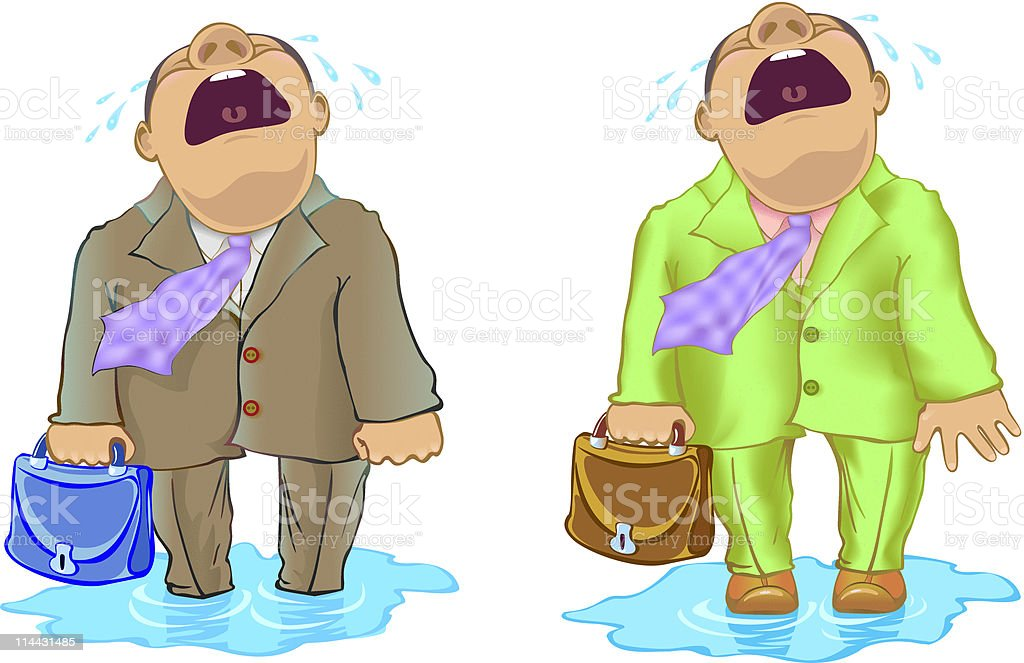 businessman crying royalty-free stock vector art
