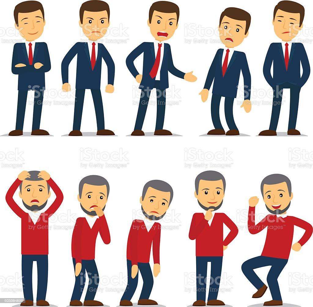 Businessman emotions vector vector art illustration