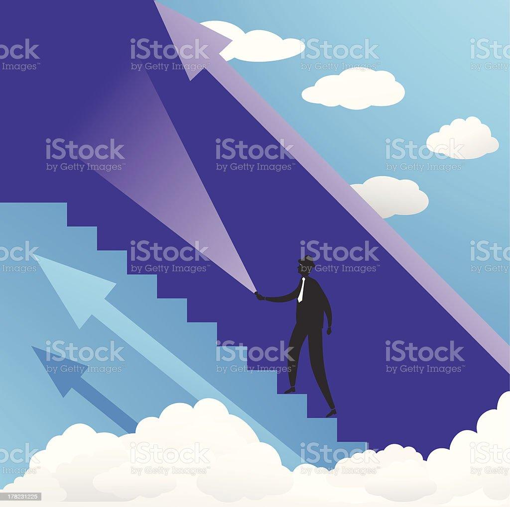 Businessman Finding Way royalty-free stock vector art