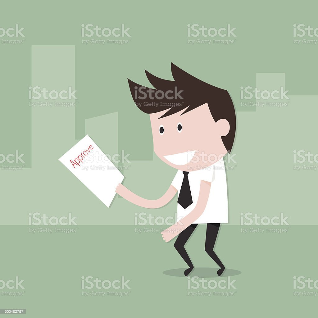 Businessman glad approved royalty-free stock vector art