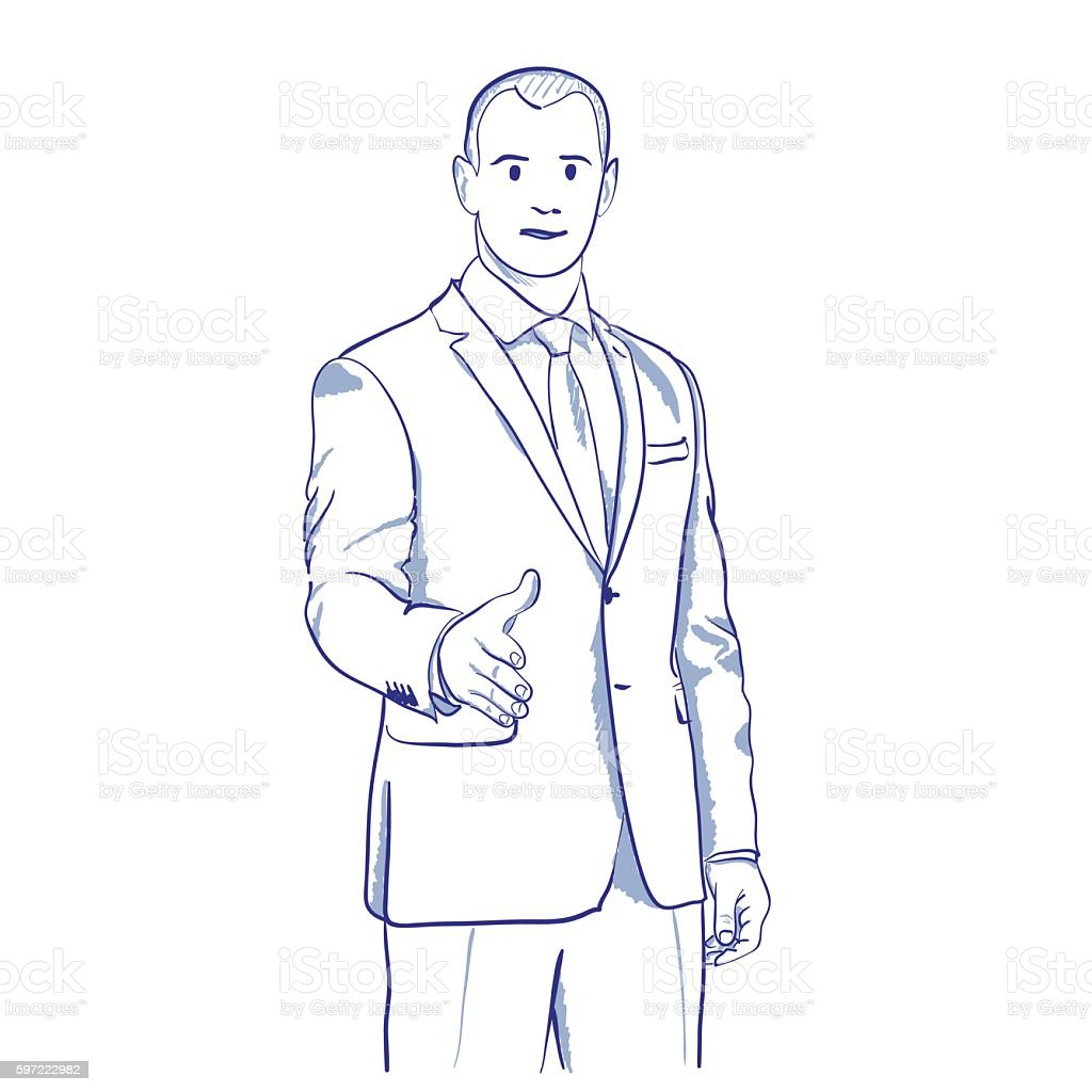 businessman handshake gesturing stock vecteur libres de droits libre de droits