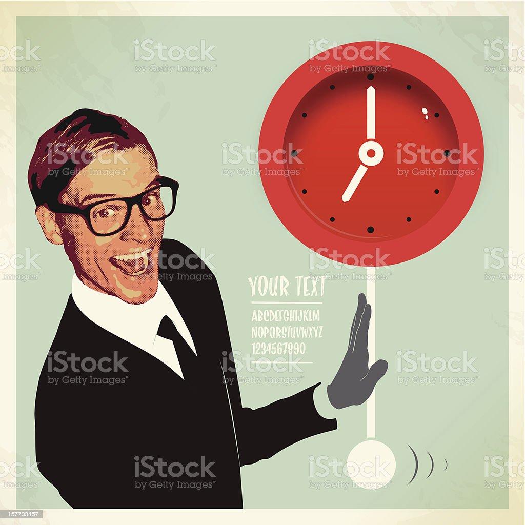 businessman have a break vector art illustration
