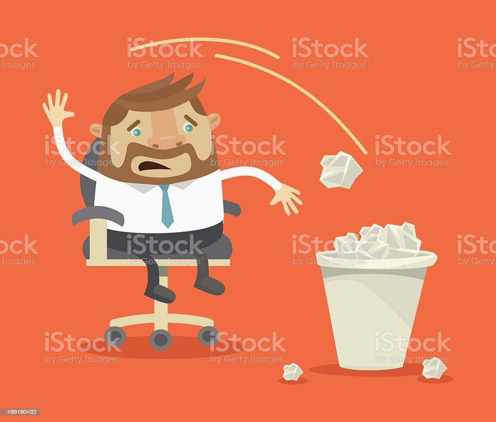 Businessman have no idea. Vector flat illustration vector art illustration