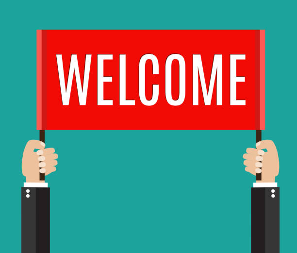 Welcome Sign Clip Art, Vector Images & Illustrations - iStock