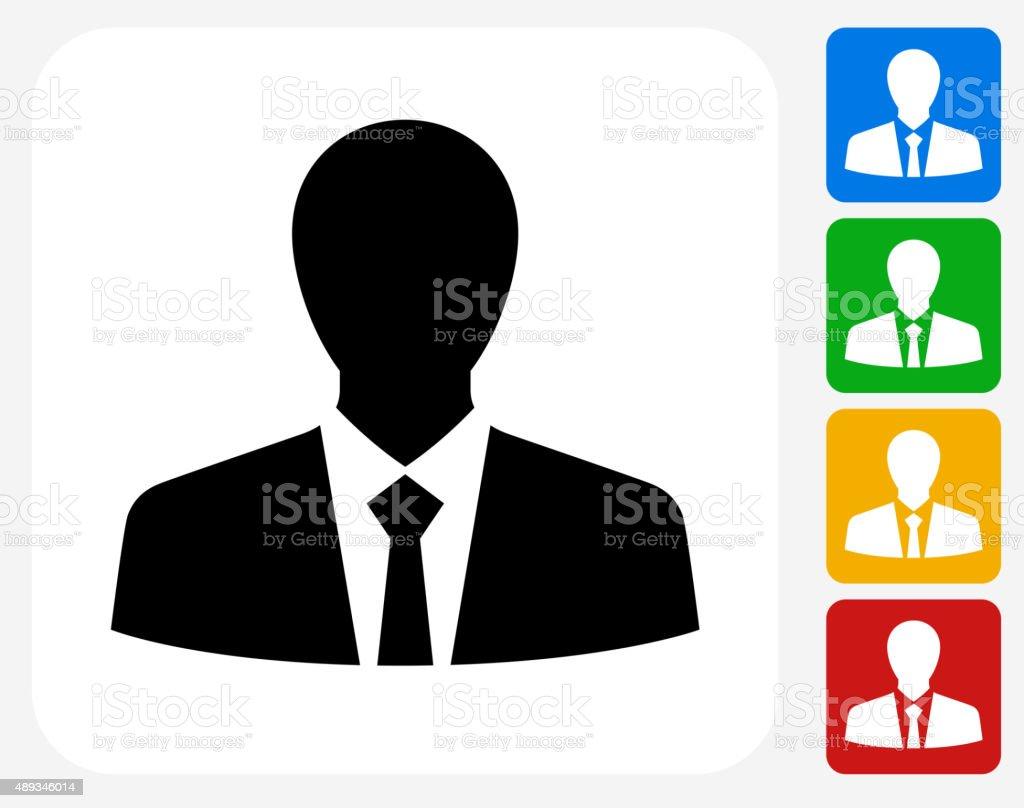 Businessman Icon Flat Graphic Design vector art illustration