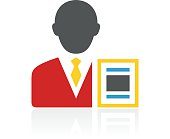 Businessman icon on a white background. - ColorSeries
