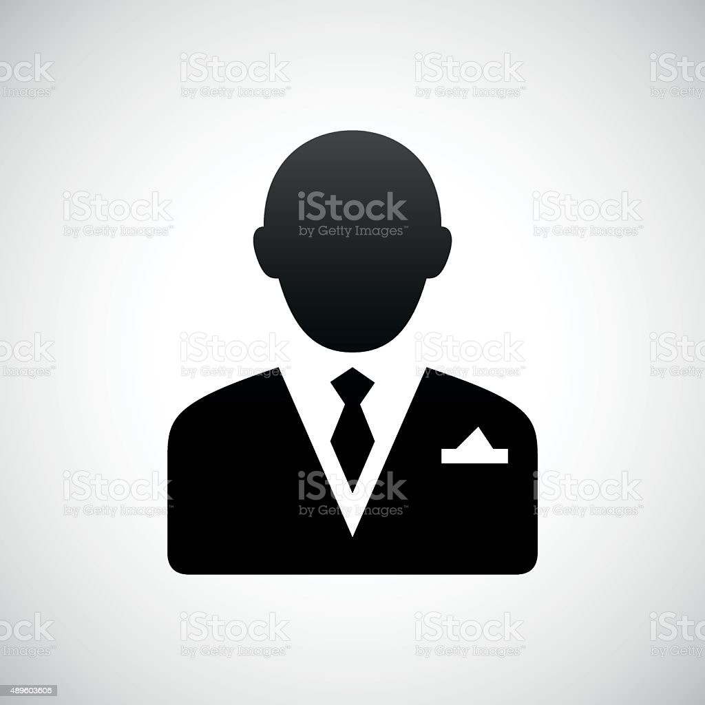 Businessman icon on a white background. - Shade Series vector art illustration