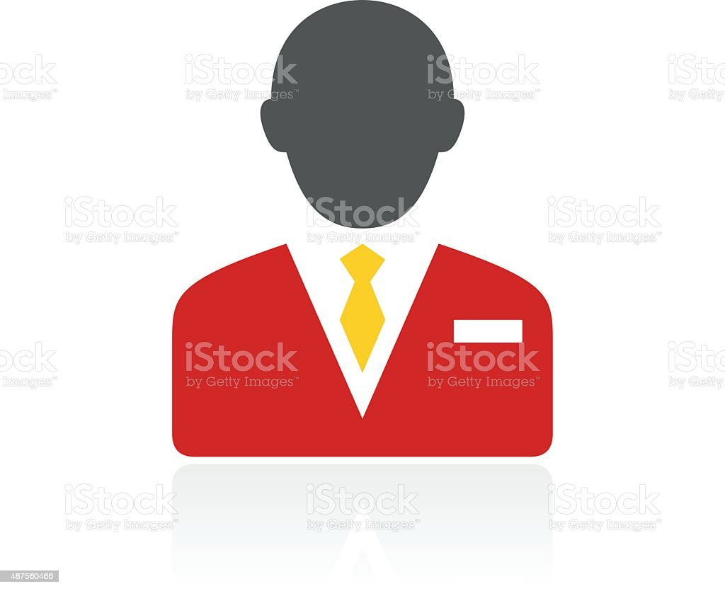 Businessman icon on a white background. vector art illustration