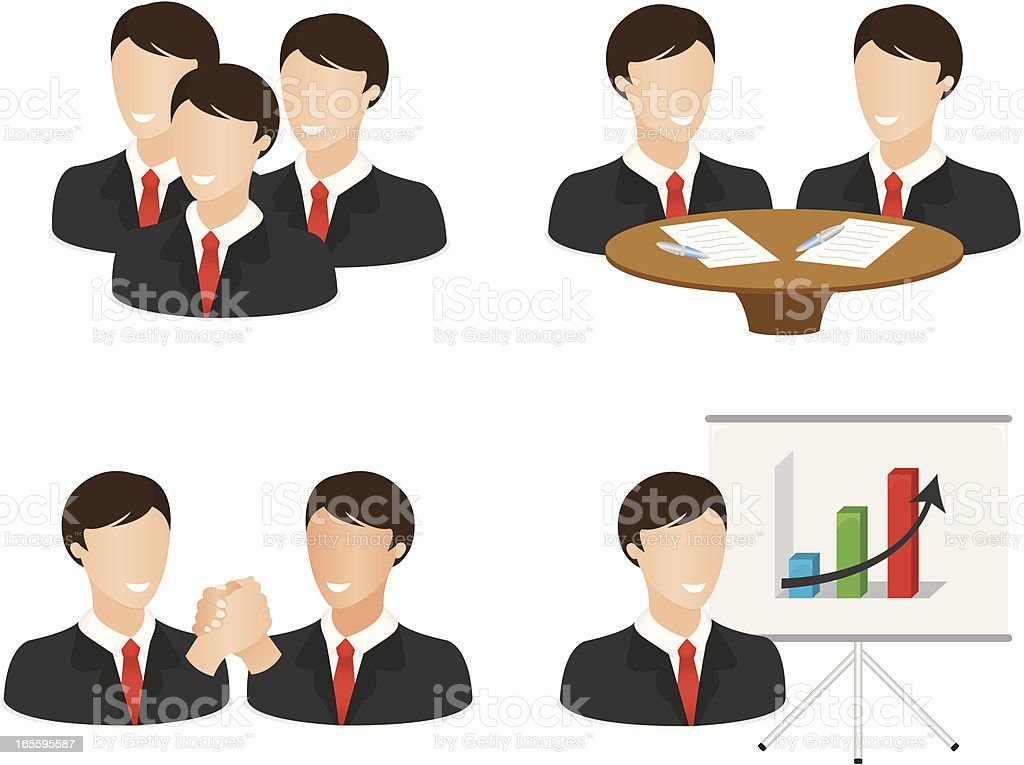 Businessman Icon Set royalty-free stock vector art