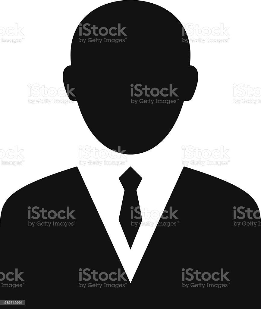 Businessman icon vector art illustration