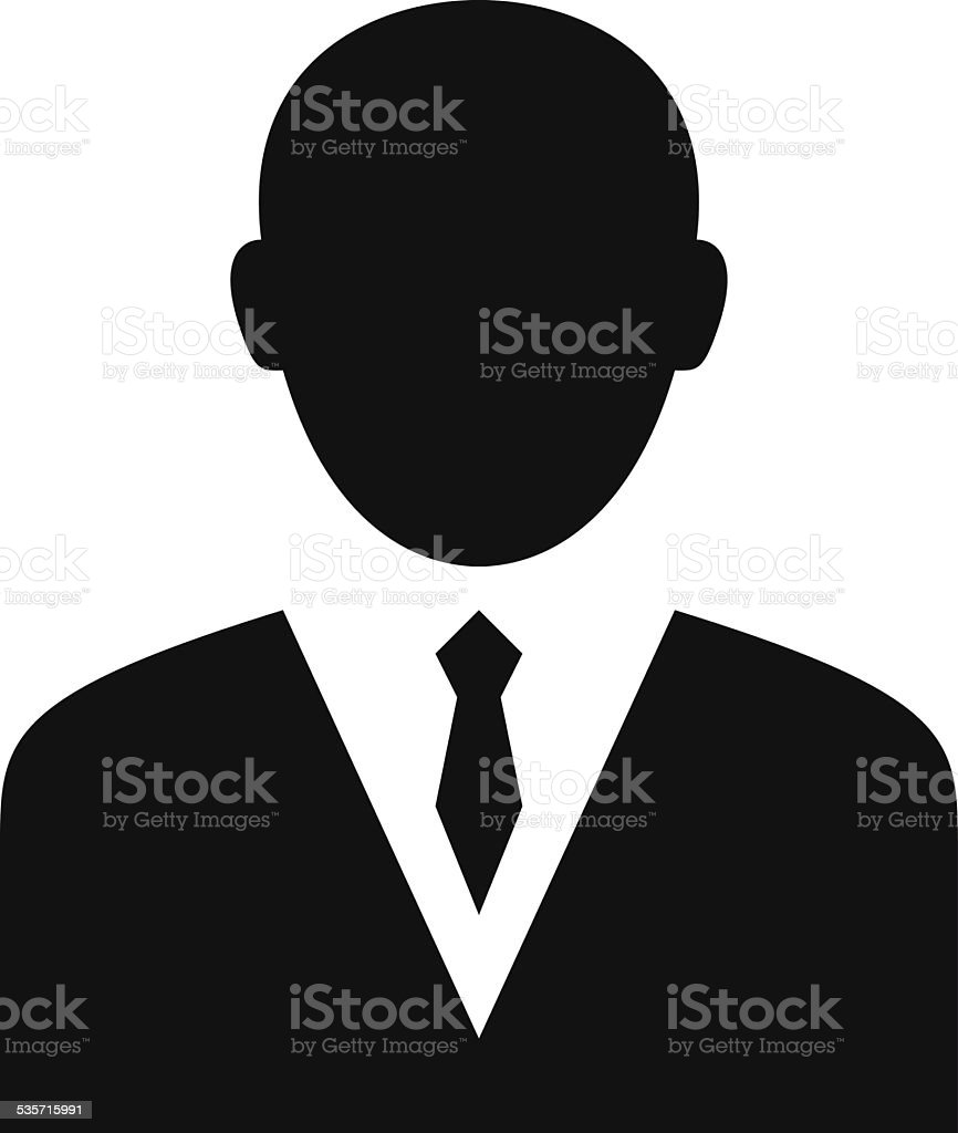 Businessman icon vector art illustration