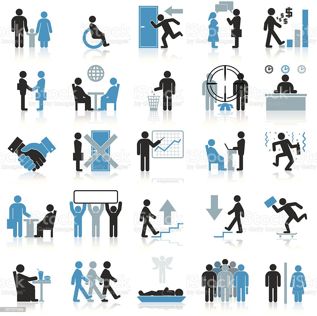 Businessman Icons. vector art illustration