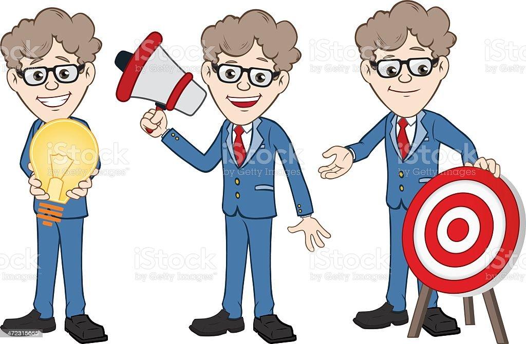 Businessman Illustration vector art illustration