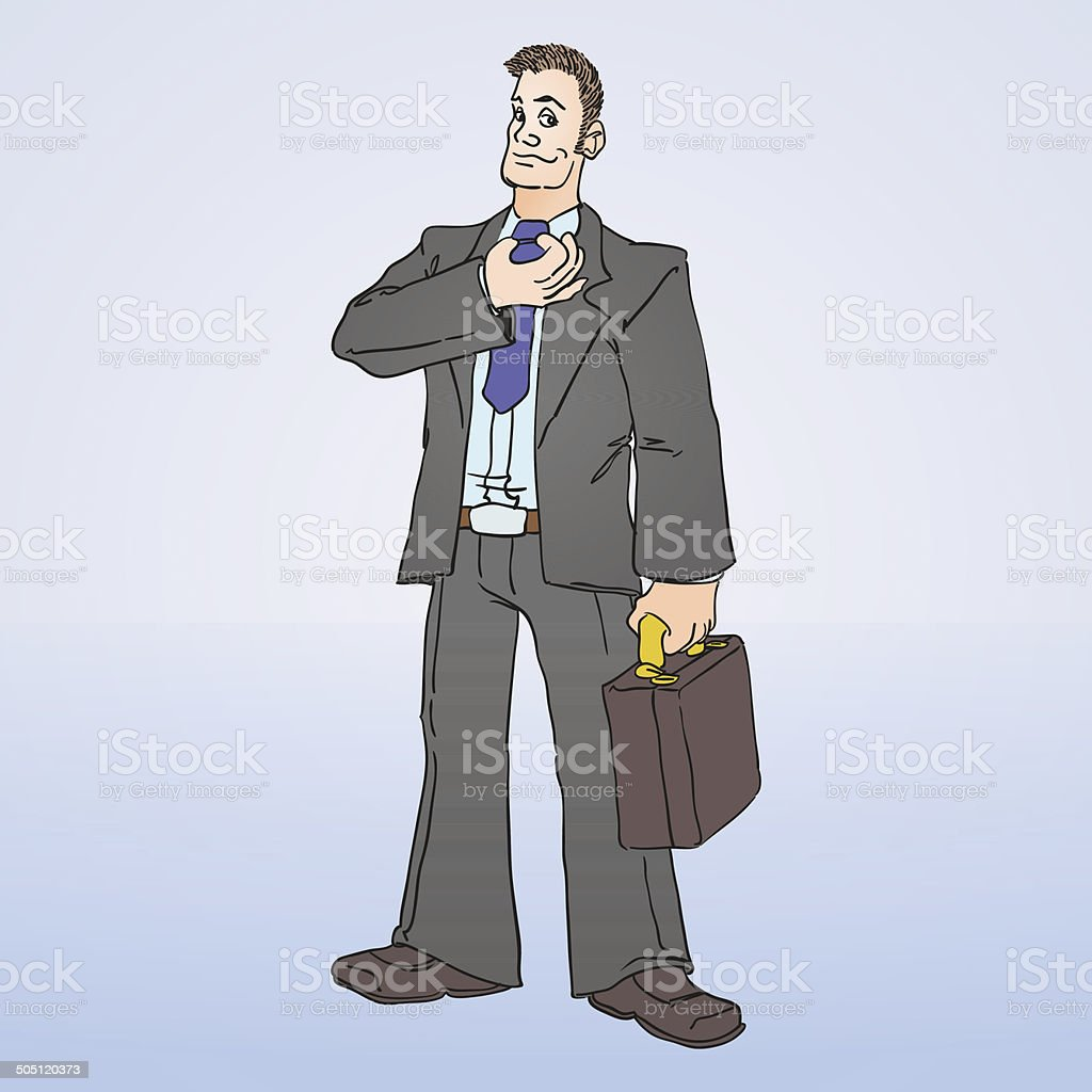 Businessman Illustration vector art illustration