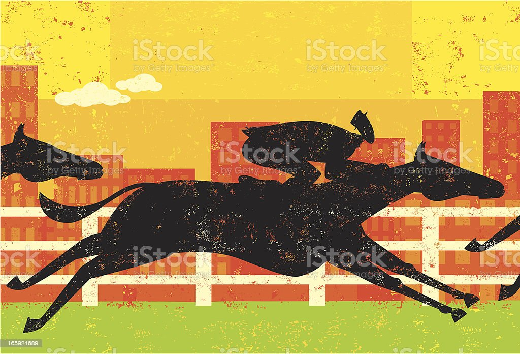 Businessman in a horse race royalty-free stock vector art