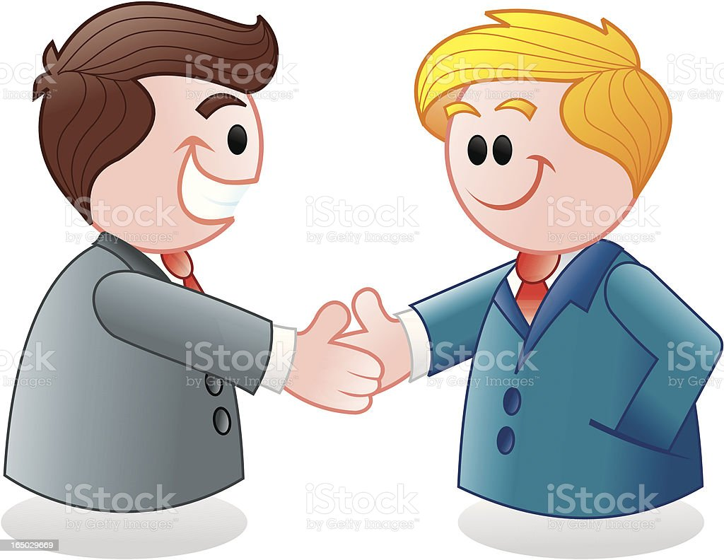 businessman in a metting, shaking hands royalty-free stock vector art
