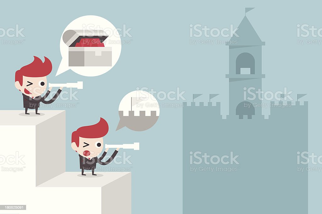 businessman in better position royalty-free stock vector art