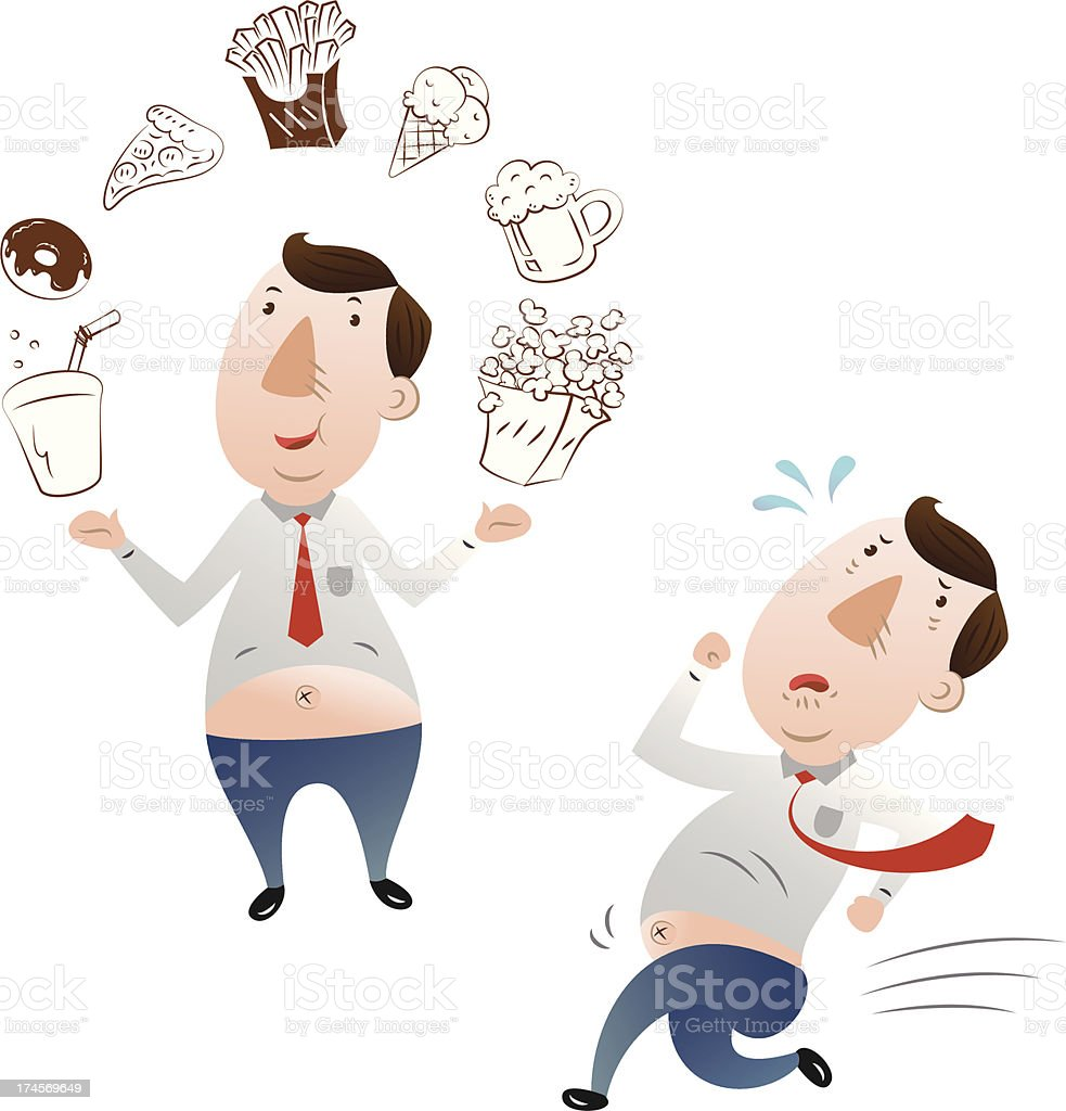 businessman in fat royalty-free stock vector art