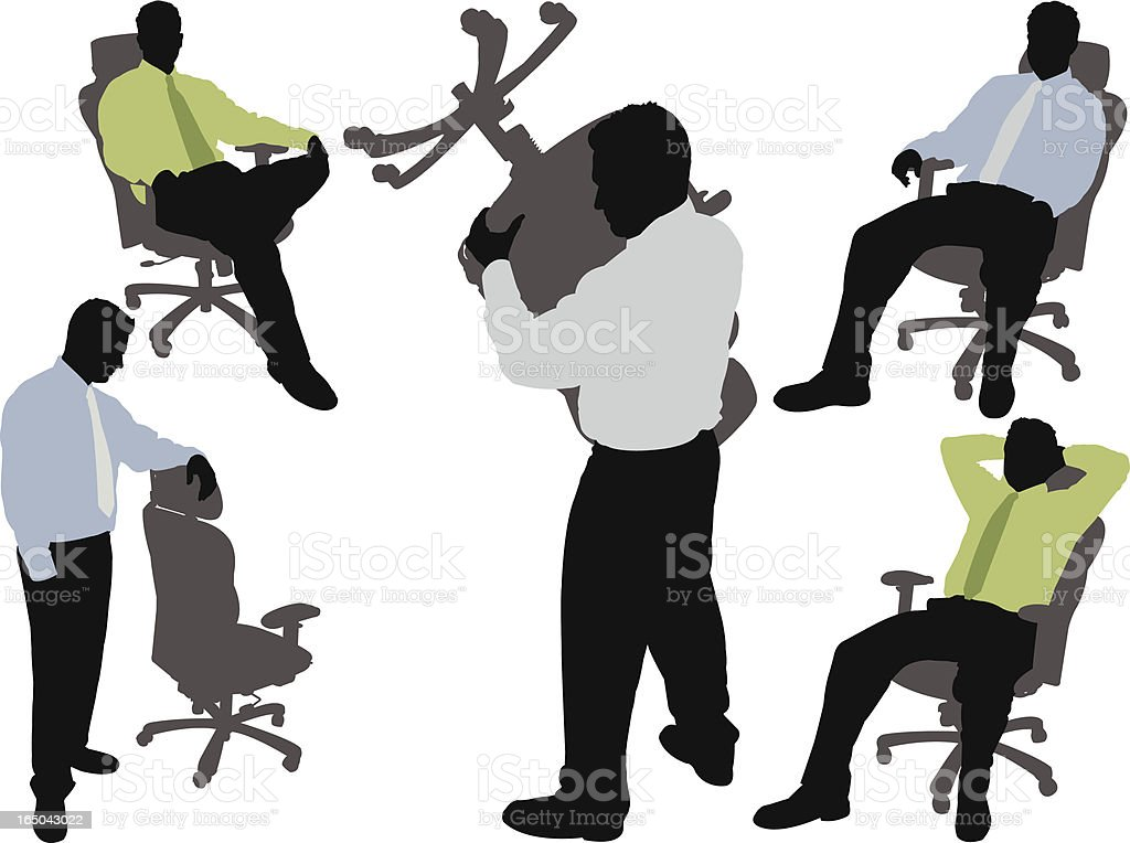 Businessman in Office Chair Series royalty-free stock vector art