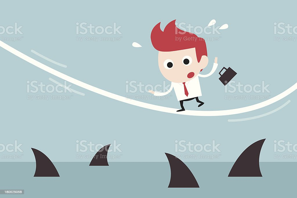 businessman in risk royalty-free stock vector art