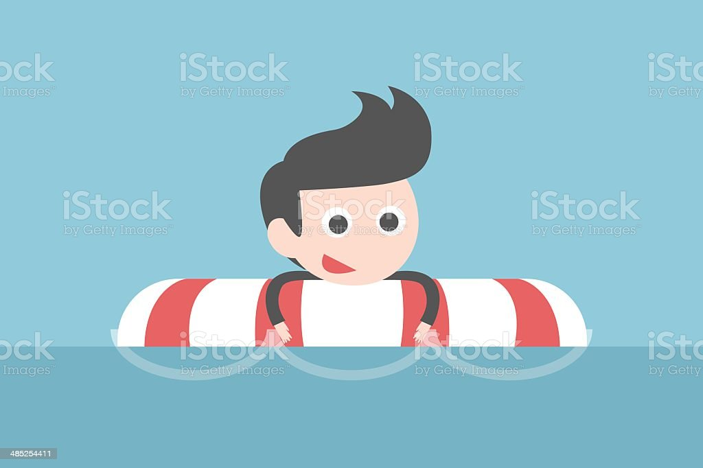 businessman in risk vector art illustration