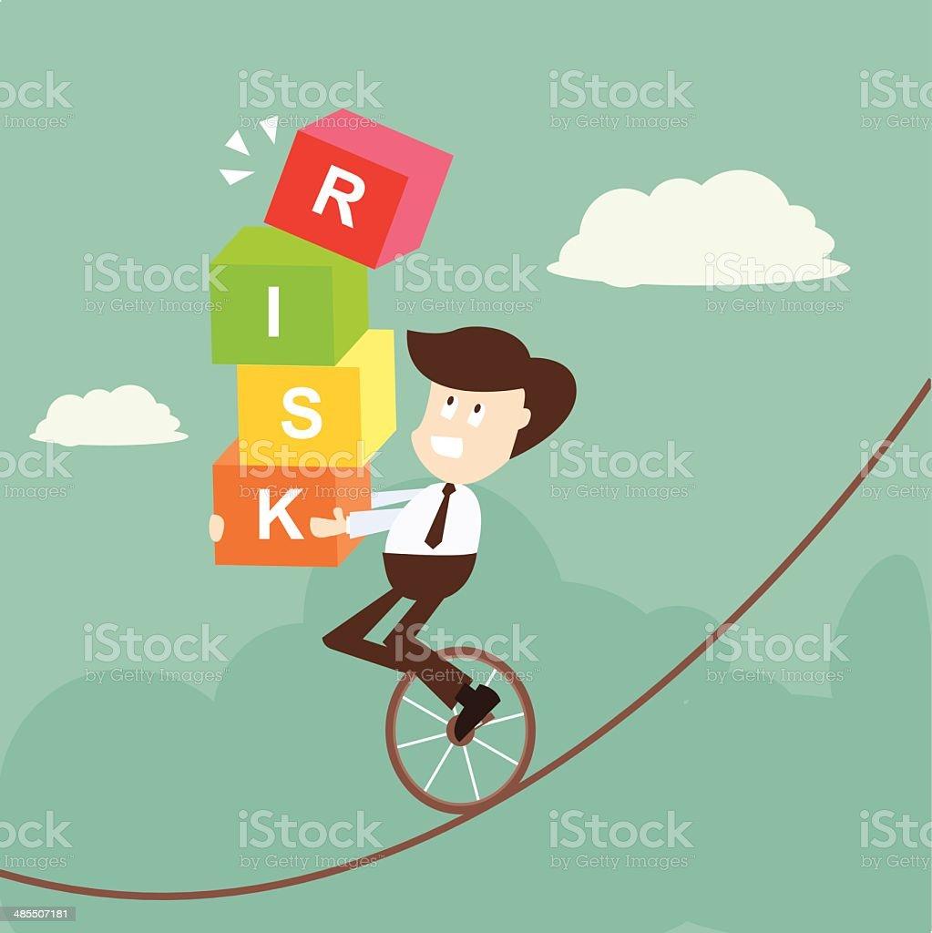 businessman in risk vector art illustration