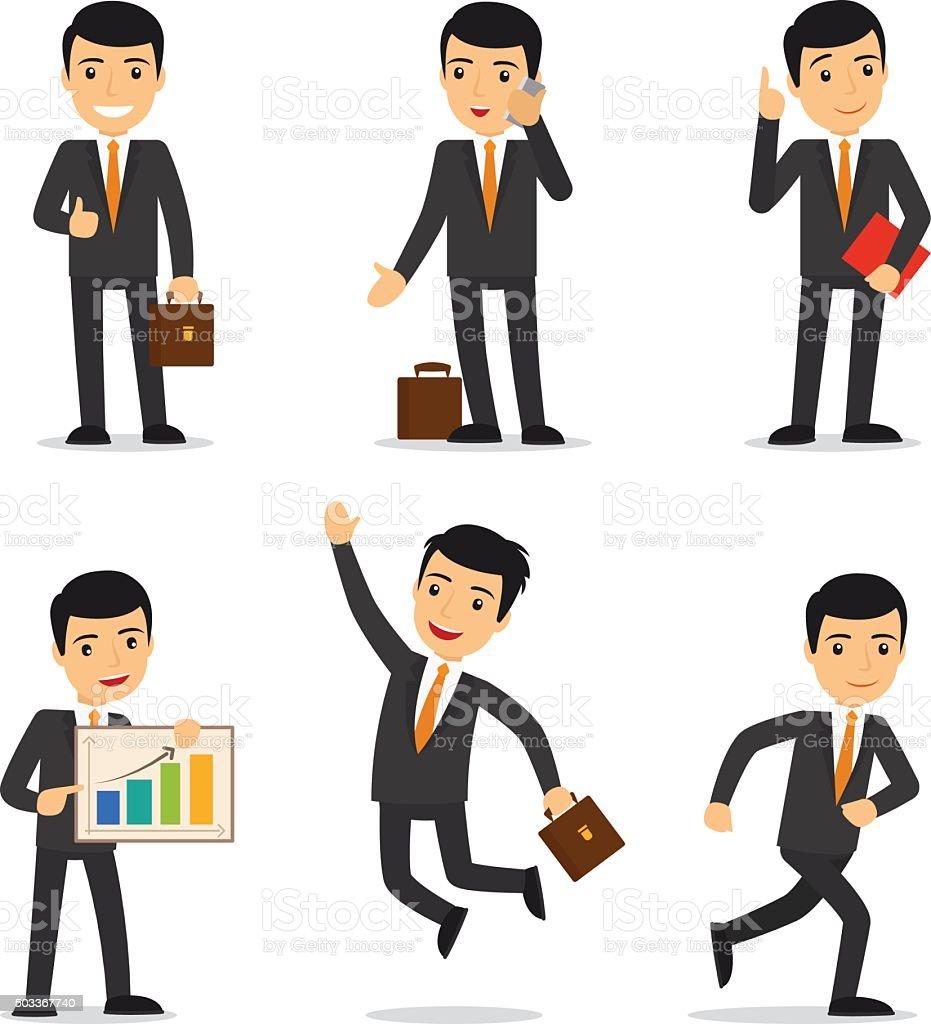 Businessman isolated vector vector art illustration