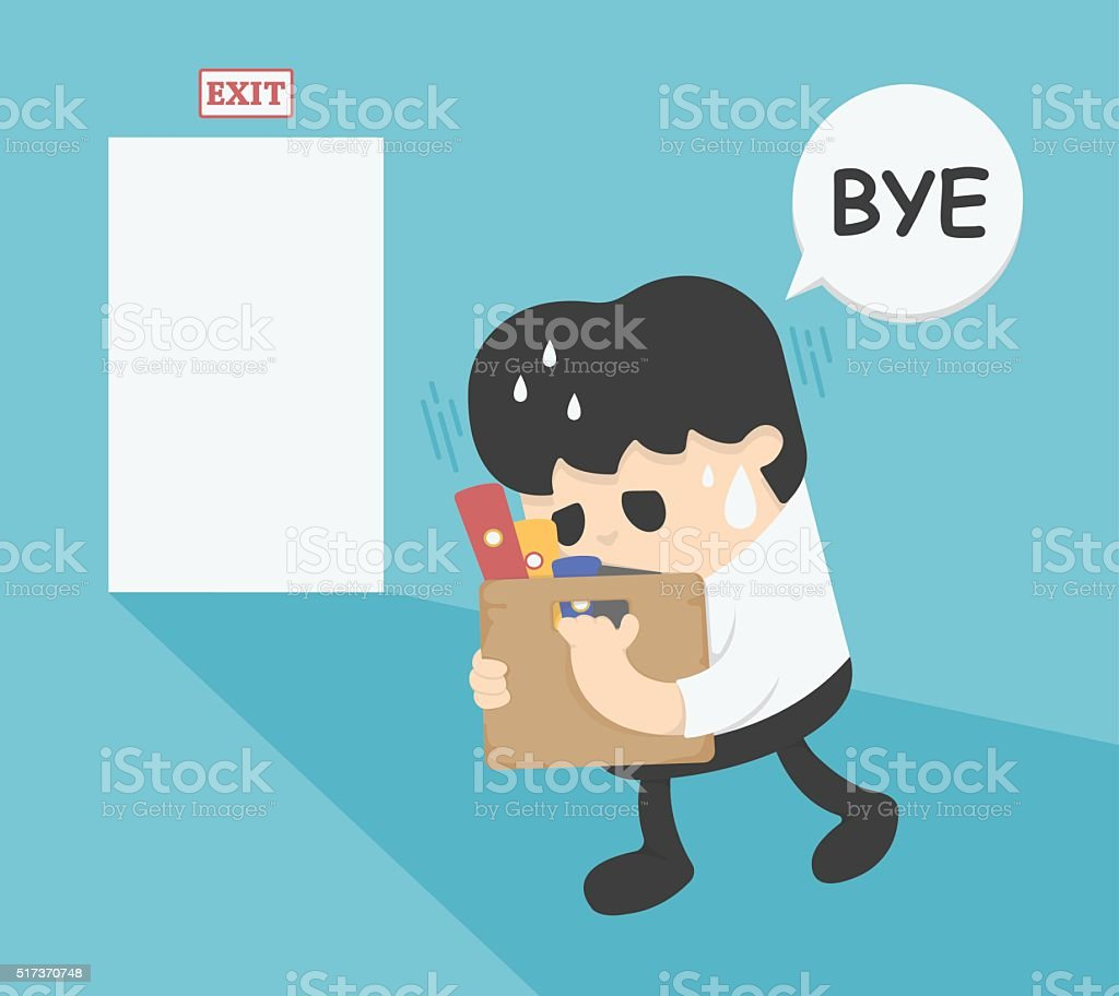 businessman leaving job stock vector art istock businessman leaving job royalty stock vector art