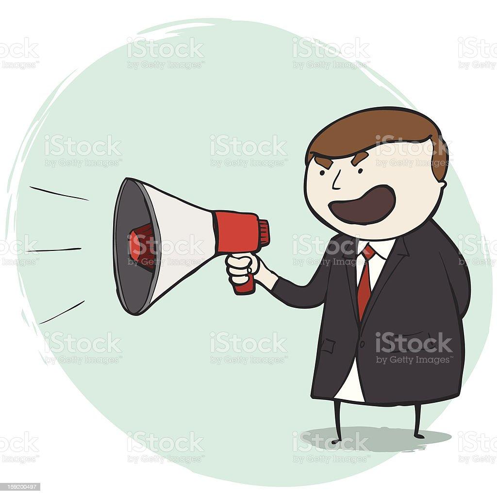 Businessman Man Shouting royalty-free stock vector art